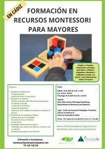 Próxima formación presencial de Montessori para Mayores